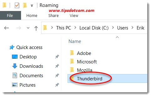 Move Thunderbird to a new computer