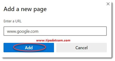 New Microsoft Edge homepage url