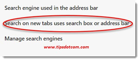 New Microsoft Edge Search Engine for the address bar