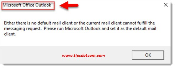 There is no default mail client