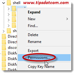 Select permissions