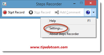 Problem Steps Recorder - 16