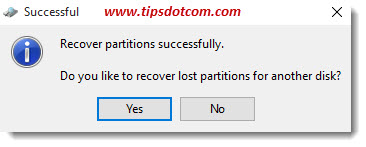 Recover Deleted Partition 05