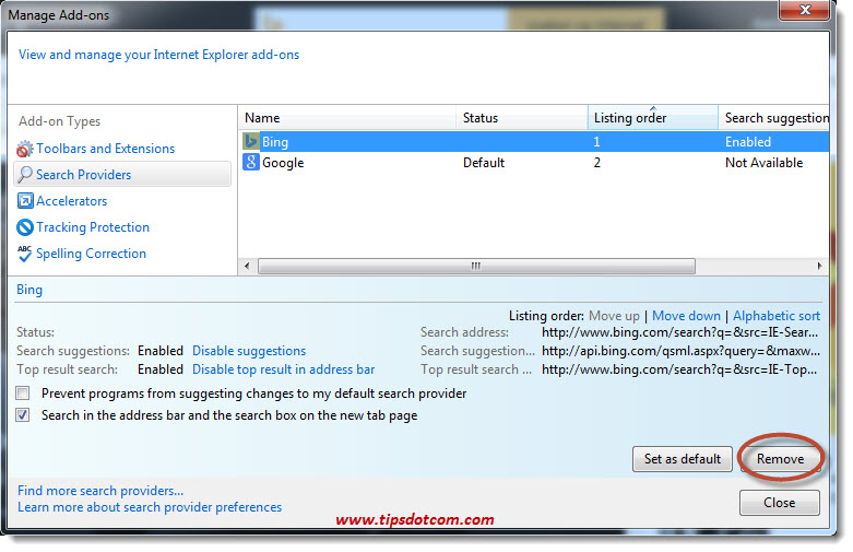 Remove Bing Search 08