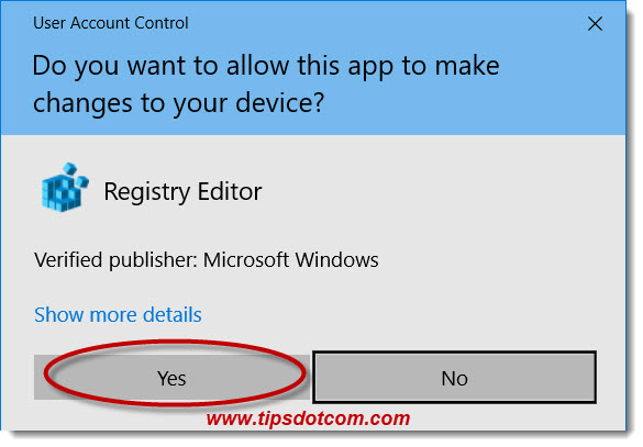 Click yes in the user account control window to continue
