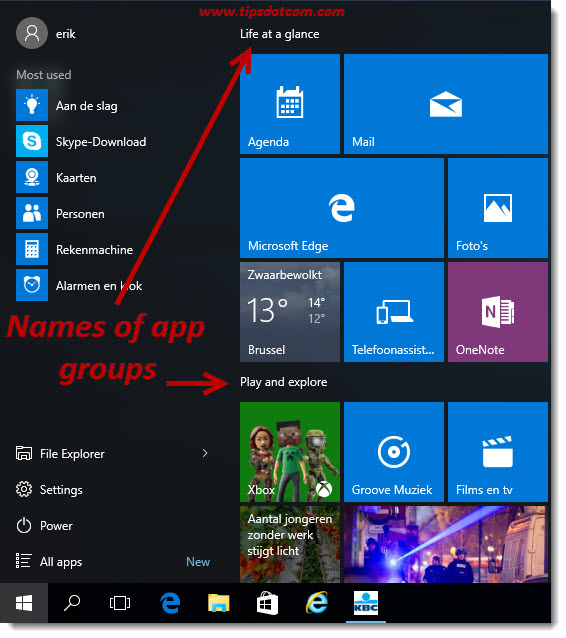 Remove Life At A Glance In Windows 10 02
