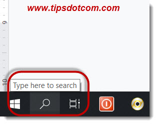 Show the search icon rather than the search box