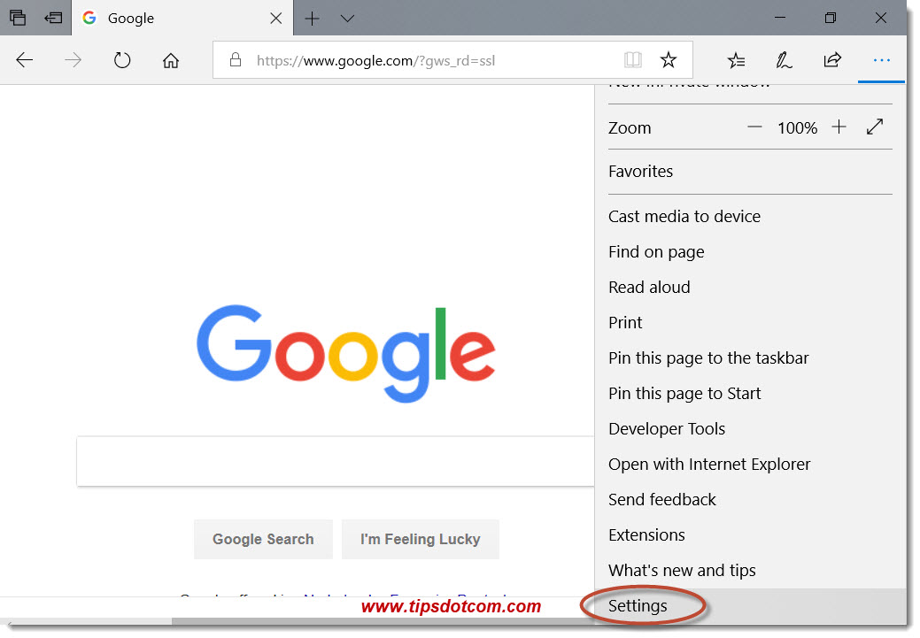 Search With Google in Microsoft Edge 07