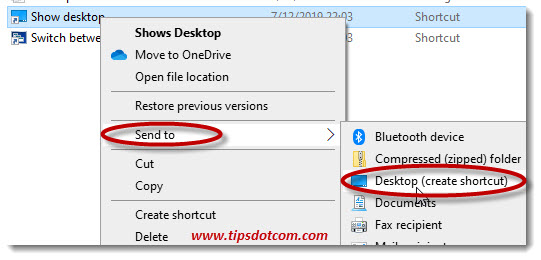 Create a shortcut on your desktop