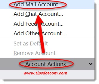 Add Gmail account in Thunderbird
