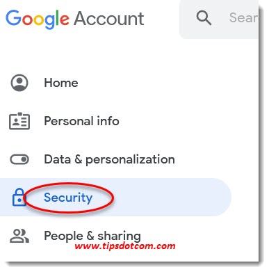 Gmail security settings