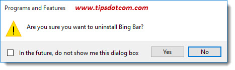 Uninstall Bing Bar 05