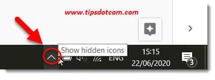 Show hidden icons in your system tray