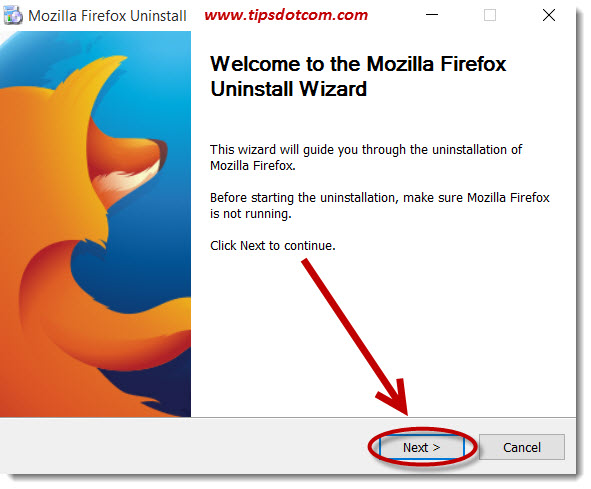 Uninstall Mozilla Firefox 05