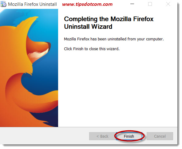 Uninstall Mozilla Firefox 07