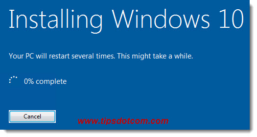 Installing Windows 10