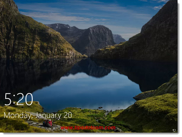 The Windows 10 lockscreen