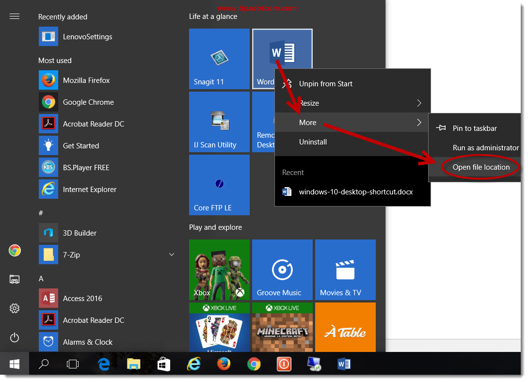Windows 10 Desktop Shortcut Secrets