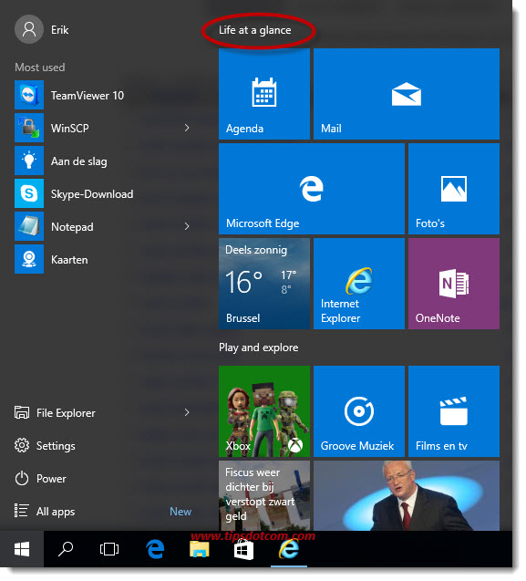 Windows 10 Life At A Glance 01