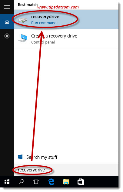 Windows 10 Recovery Drive 01