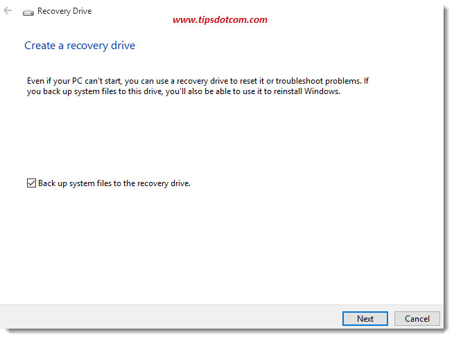 Windows 10 Recovery Drive 03
