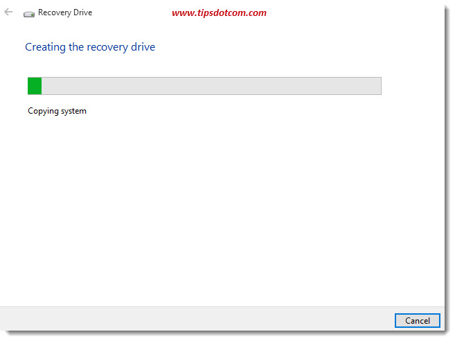 Windows 10 Recovery Drive 08