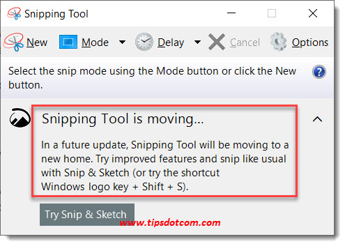 Windows 10 Shortcut For Snipping Tool 09