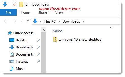 Windows 10 Show Desktop Icon 06