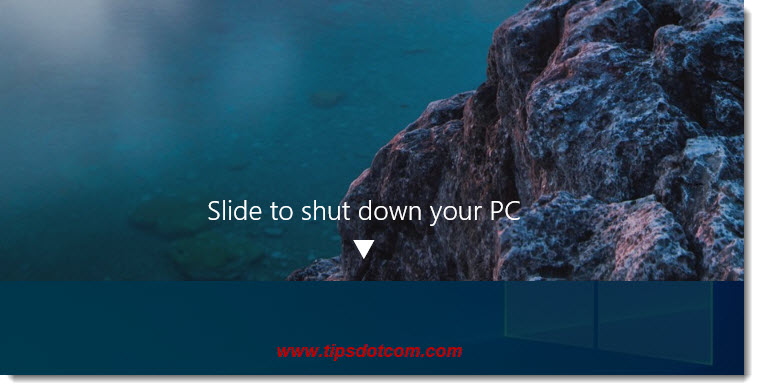 Windows 10 slide to shut down