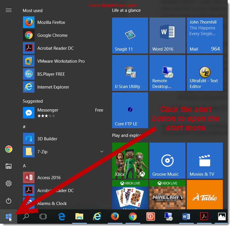 Windows 10 Start Menu 03
