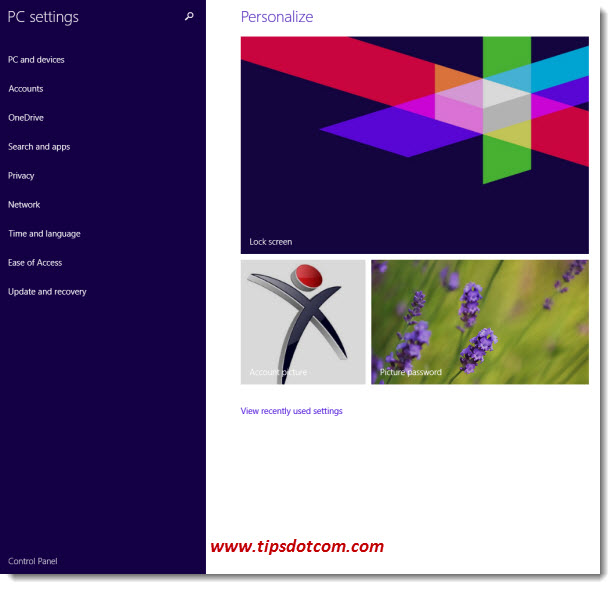 Windows 8 Control Panel - Step 05