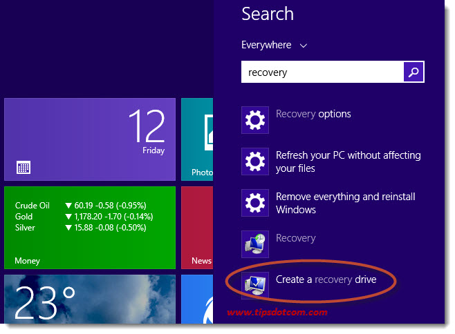 Windows 8 Recovery Drive 01