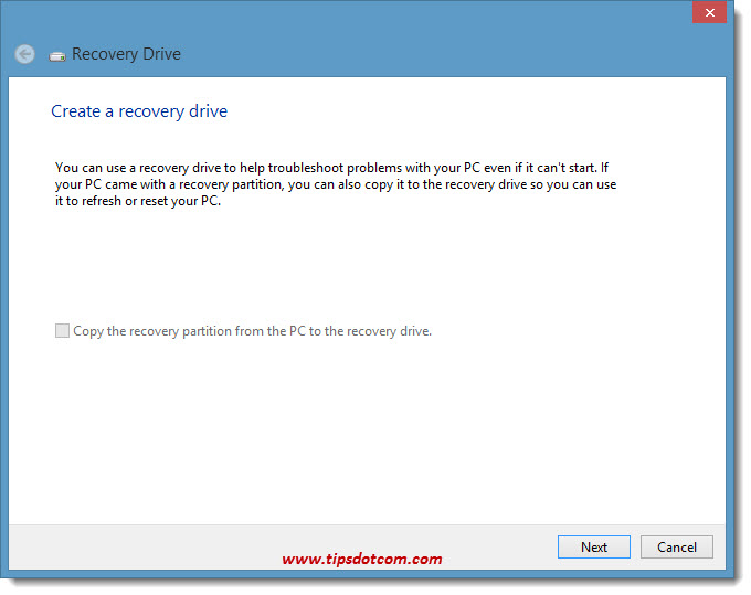 Windows 8 Recovery Drive 03