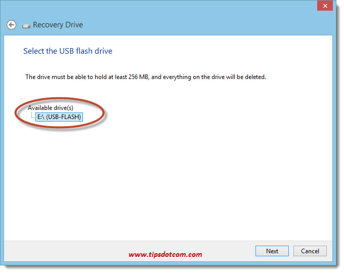 Windows 8 Recovery Drive 05