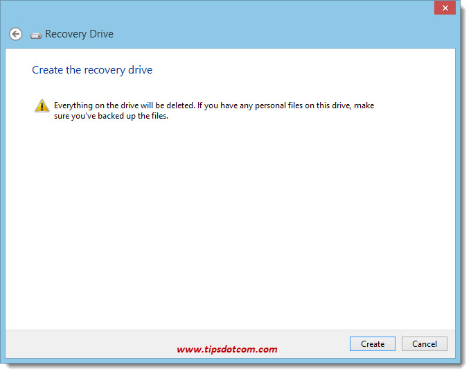 Windows 8 Recovery Drive 06