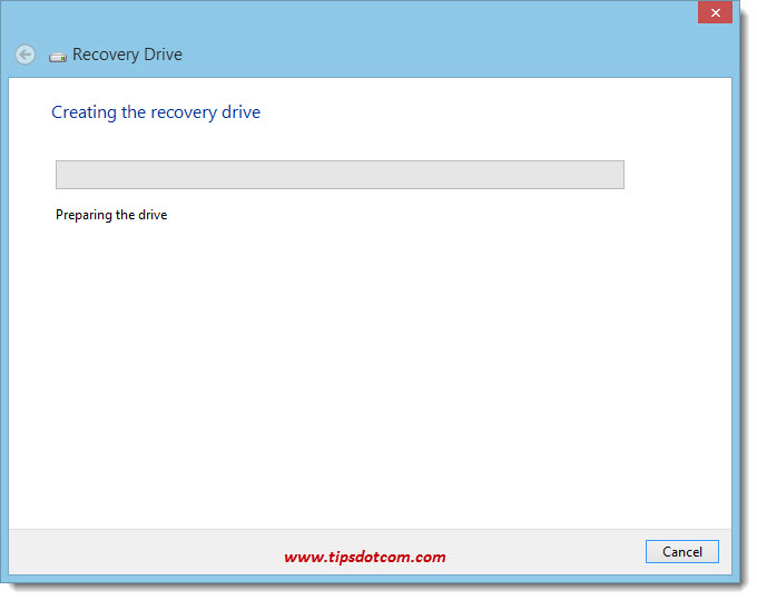 Windows 8 Recovery Drive 07