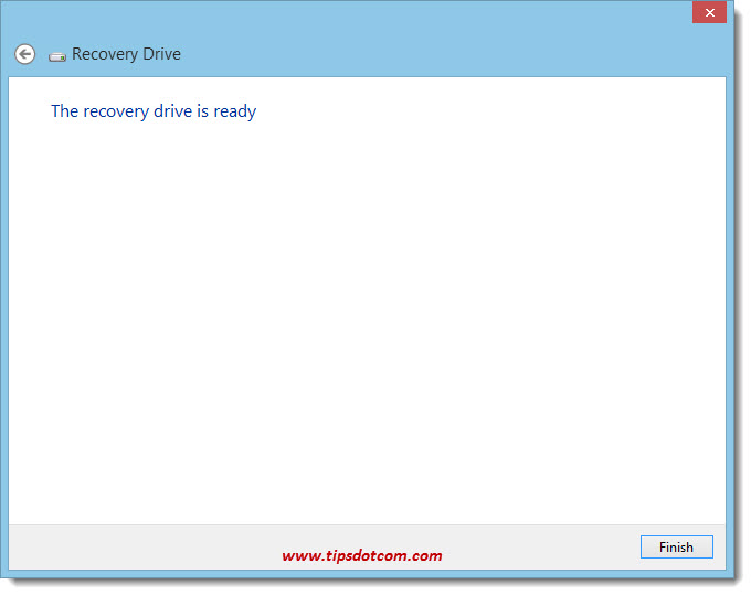 Windows 8 Recovery Drive 10