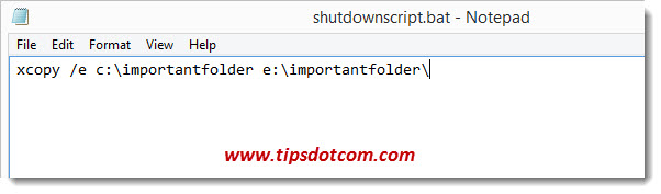 Windows 8 Shutdown Script - Step 03