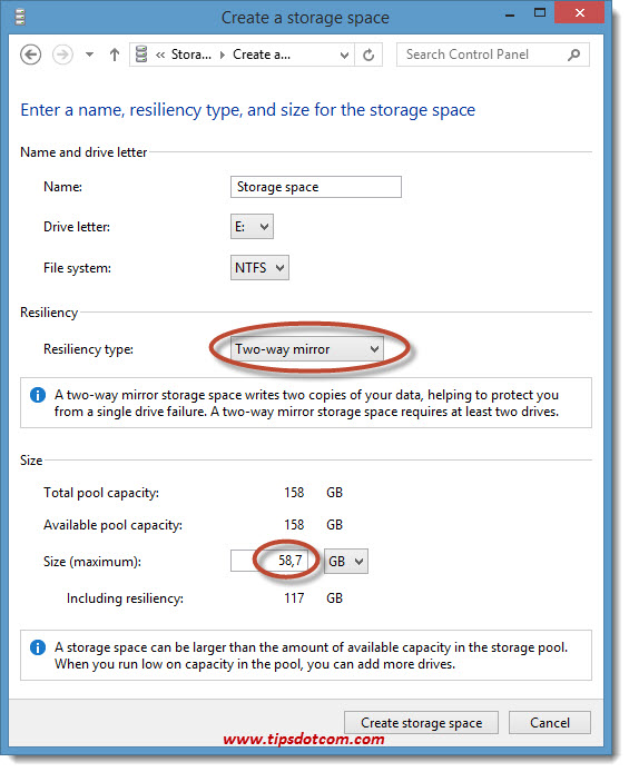 Windows 8 Storage Spaces 06