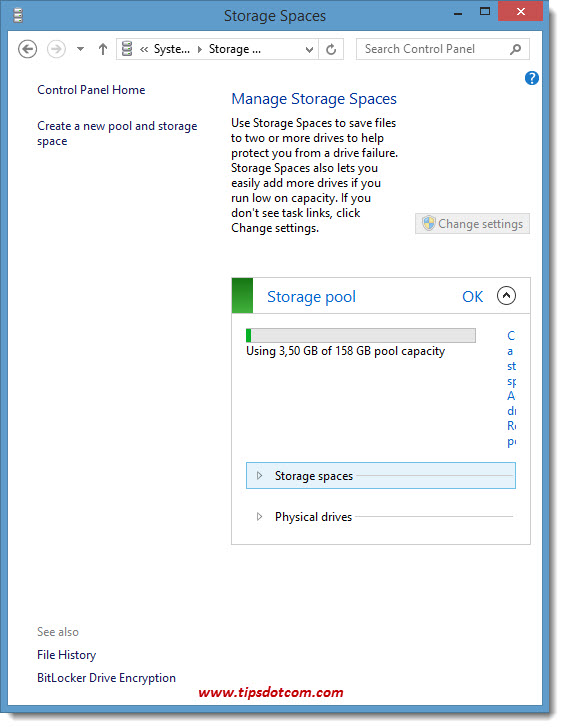 Windows 8 Storage Spaces 10