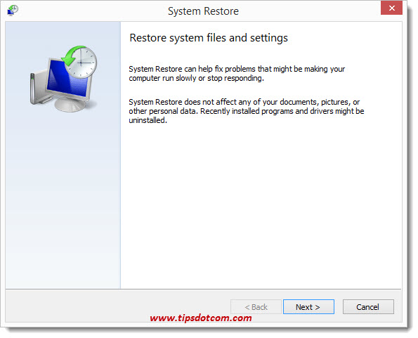Windows 8 System Restore - Step 11