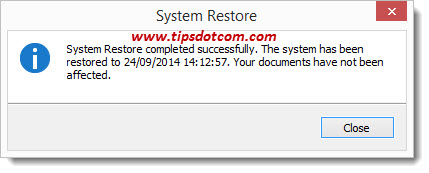 Windows 8 System Restore - Step 16