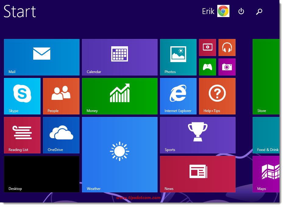 Windows 8 Taskbar Step 01