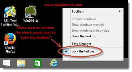 Windows 8 Taskbar Step 04