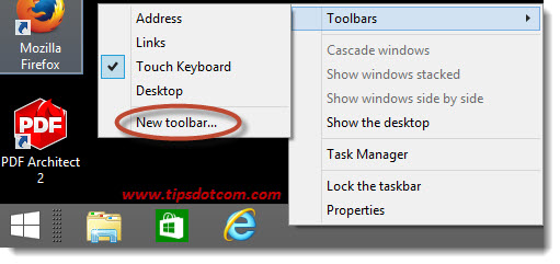 Windows 8 Taskbar Step 05