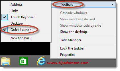 Windows 8 Taskbar Step 11