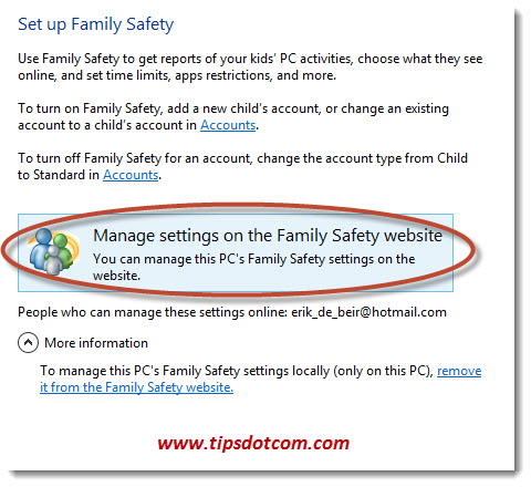 Windows Parental Control Step 03