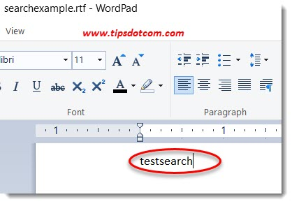 Windows search file contents example