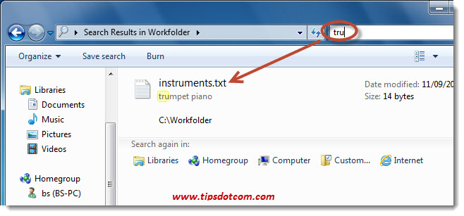 Windows Search in File Contents - Step 10
