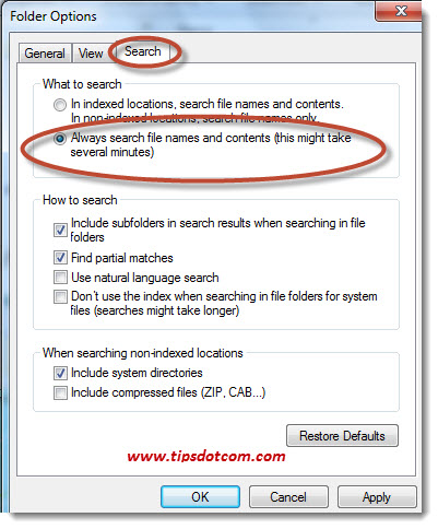 Windows Search in File Contents - Step 13